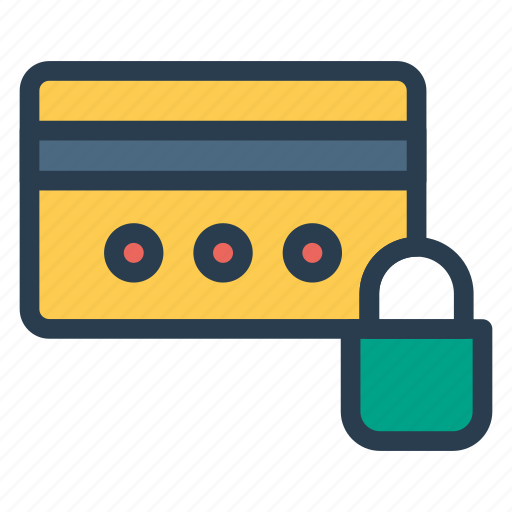 atm, block, cridet, debit, lock, protect, secure icon