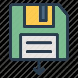 data, disk, floppy, memory, save, saved, storage icon