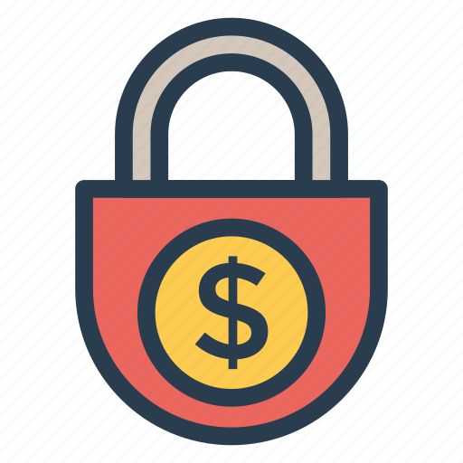 business, currency, dollar, finance, locked, money, protect icon