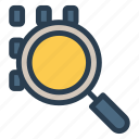 find, glass, magnifier, magnifyingglass, search, searching, tool icon
