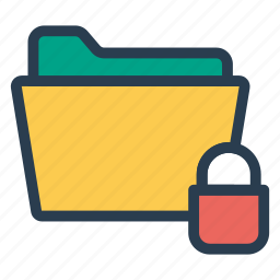 close, closed, folder, lock, locked, protect, protection icon