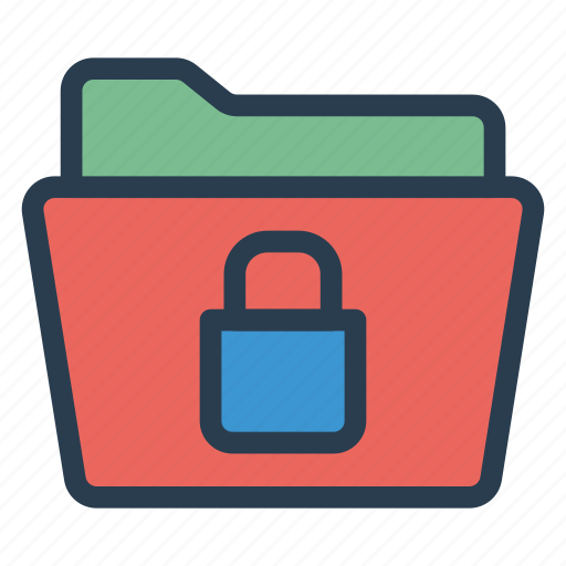 document, folder, lock, locked, protect, protection, security icon