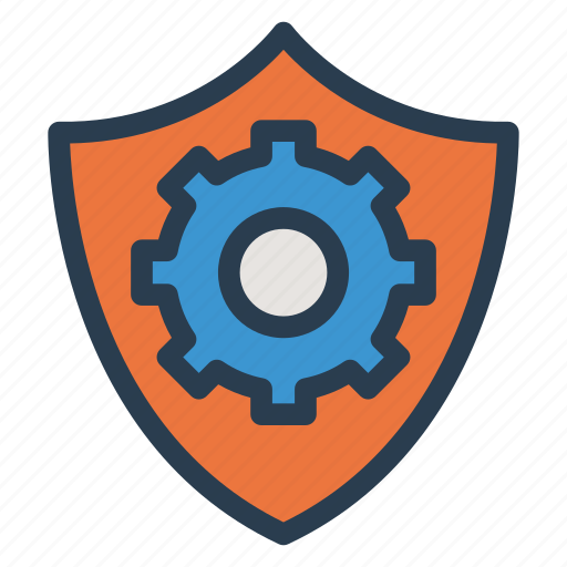 configuration, configure, control, gear, security, setting, shield icon