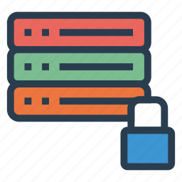 lock, locked, locker, protected, protection, server, storage icon