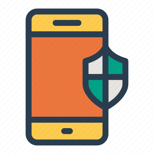 device, mobile, phone, protected, protection, secure, virusfree icon