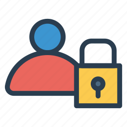 lock, man, people, person, safe, secure, user icon