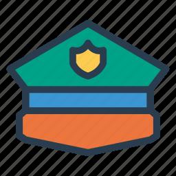 cap, cop, police, policehat, policeman, security, service icon