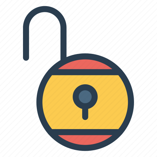 openlock, protect, secure, security, theft, unlock, unlocked icon