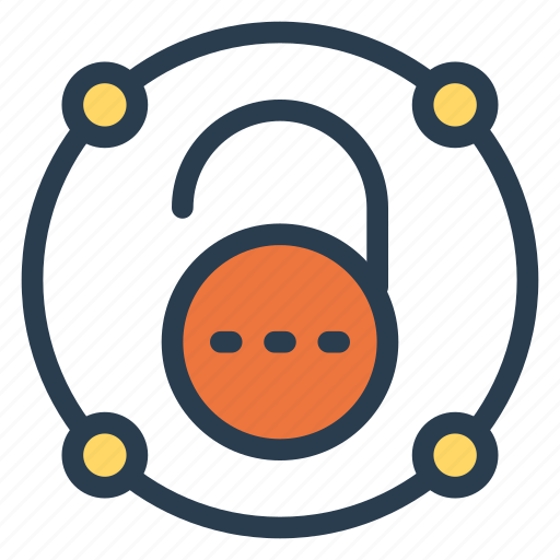 access, nopassword, privacy, security, unlock, unlocked, unsecured icon