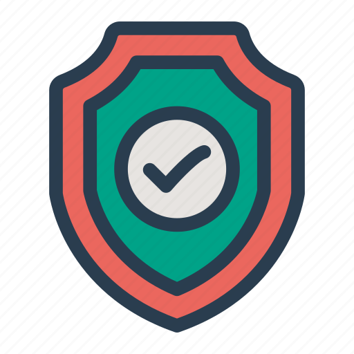 done, protect, protected, security, shield, tick, verified icon