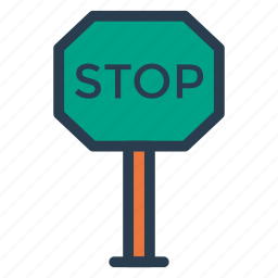 error, parking, pause, security, sign, stop, thread icon