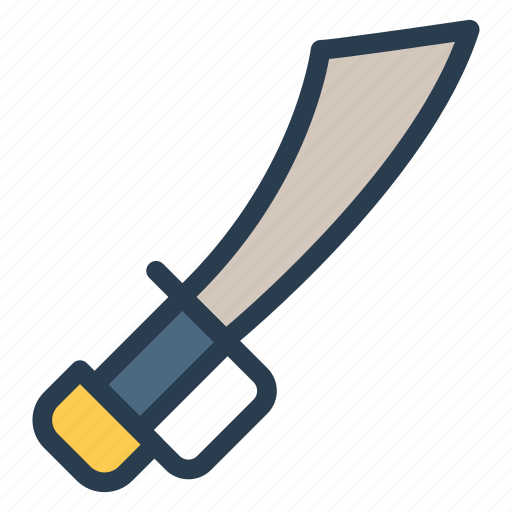 blood, curved, protect, security, sword, war, weaponry icon