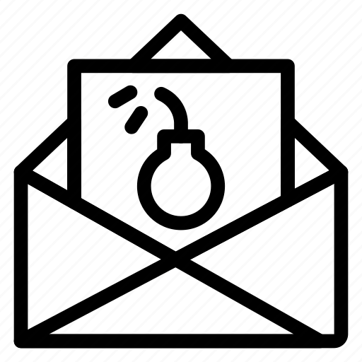 bomb, email, error, mail, open, spam, virus icon