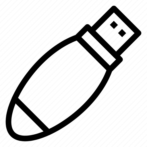 connector, data, device, flash, storage, technology, usb icon