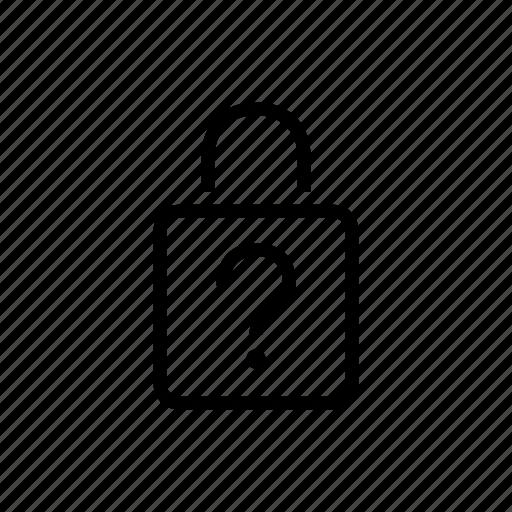 forgot, lock, office, password icon