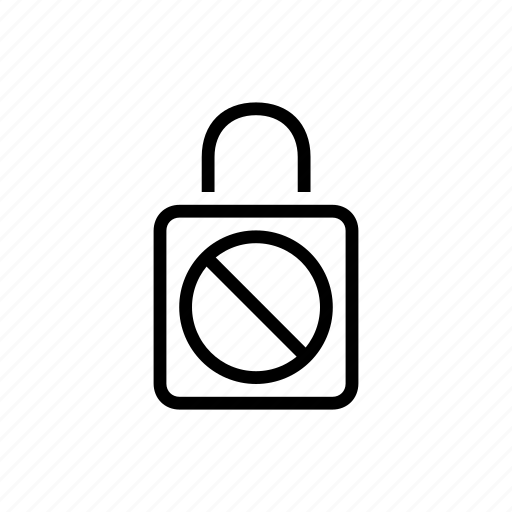 dont, lock, security icon
