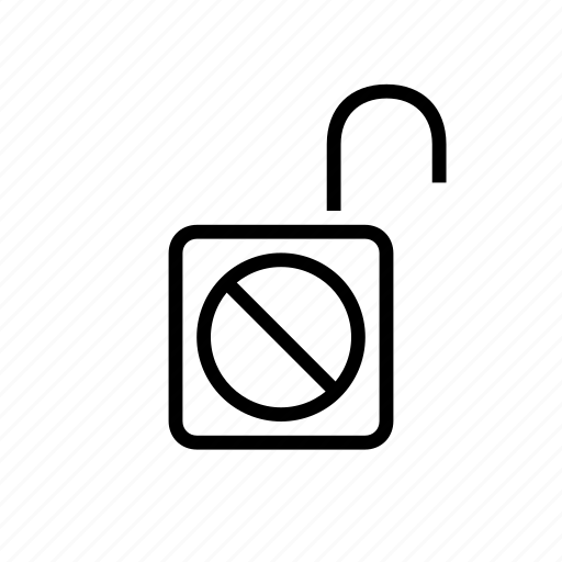 blocked, dont, lock, open, security icon