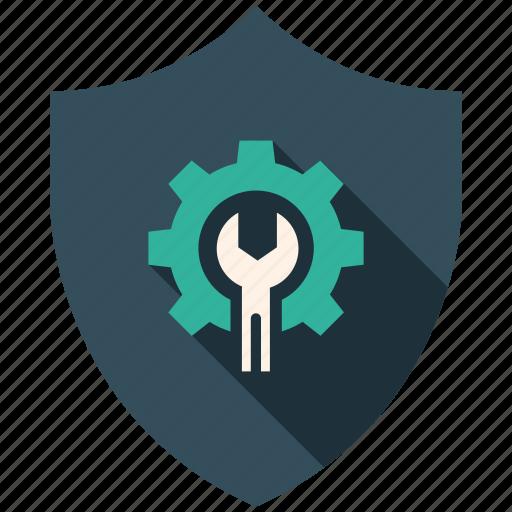 encryption, firewall, guard, secure, settings, shield icon