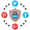 encryption, firewall, guard, media, secure, shield, social icon