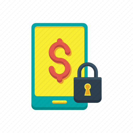 banking, device, mobile, payment, secure, security, smartphone icon