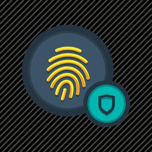 access, fingerprint, lock, protection, scan, secured, sensor icon
