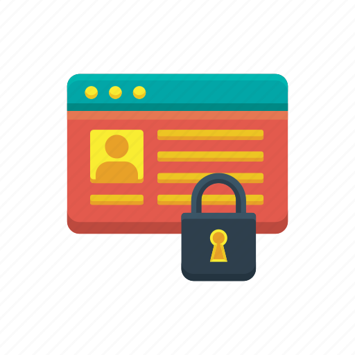 https, internet, lock, profile, secured, social media, web icon