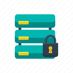 data, database, secure, secured, security, server, storage icon