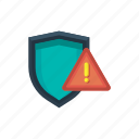 alert, danger, error, issue, security, threat, warning icon