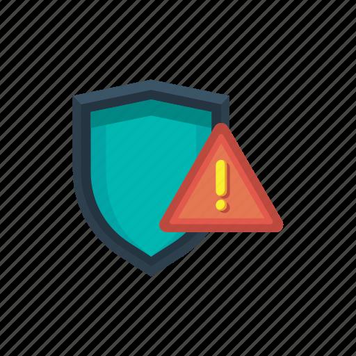 alert, danger, error, issue, security, threat, warning icon