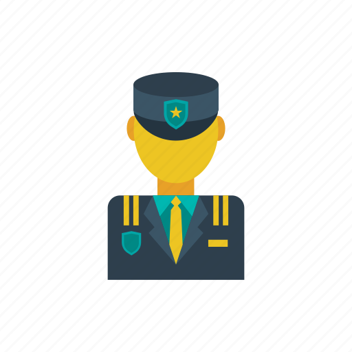 commander, general, guard, officer, police, policeman, security icon