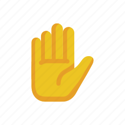 alert, gesture, hand, sign, stop, talk to the hand, warning icon