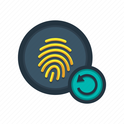 again, finger, fingerprint, gesture, hand, interaction, touch icon
