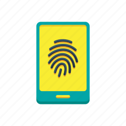 fingerprint, id, identification, identity, mobile, security, touch icon