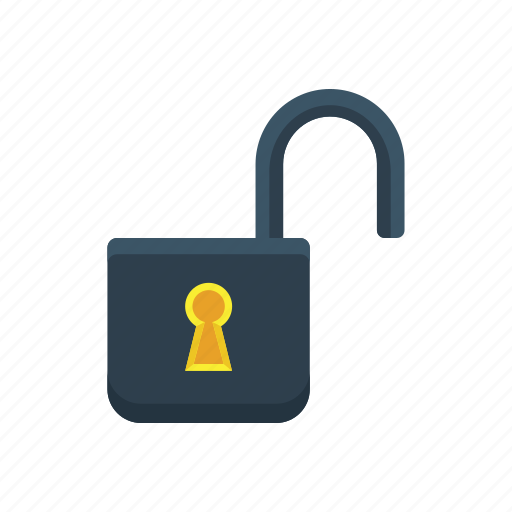 access, privacy, protection, safety, security, unlock, unlocked icon