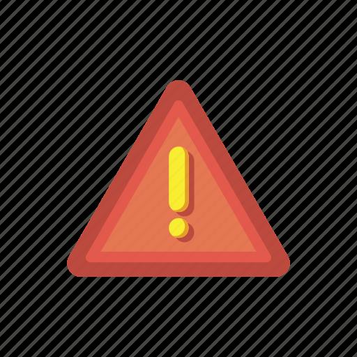 alert, attention, caution, danger, error, notification, warning icon