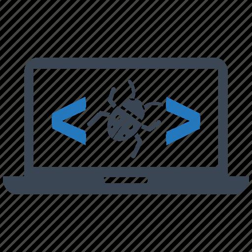 bug, code, coding, development, optimization, programming, seo icon