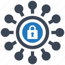 connect, key, locked, protect, protection, secure, security icon