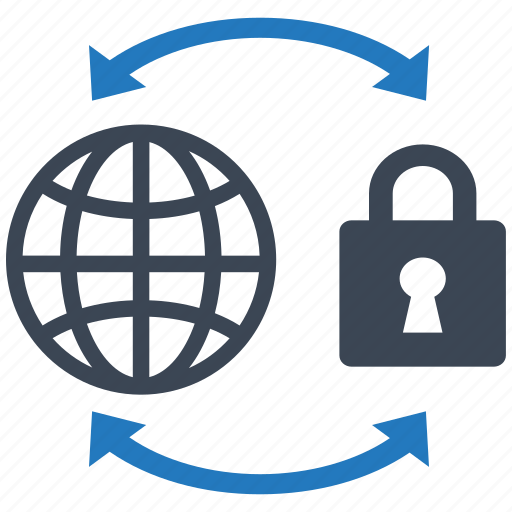 global, globe, internet, protection, safe, secure, security icon