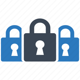 access, locked, multikey, password, protect, safety, security icon