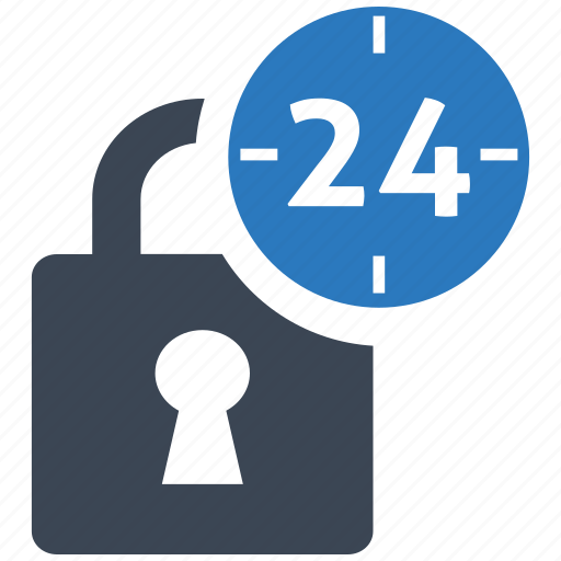 hour, locked, privacy, protection, safety, secure, security icon