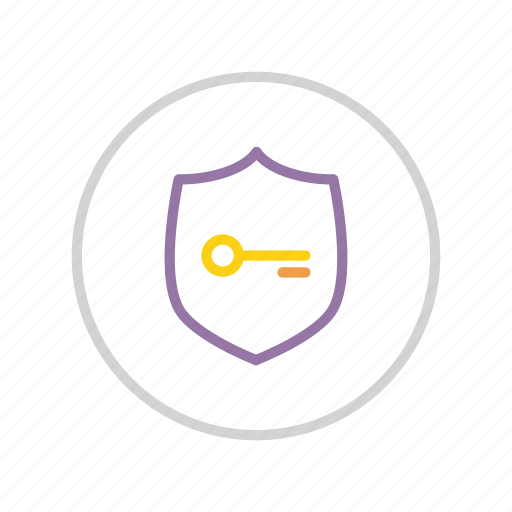 authentication, key, password, protection, secure, security, shield icon