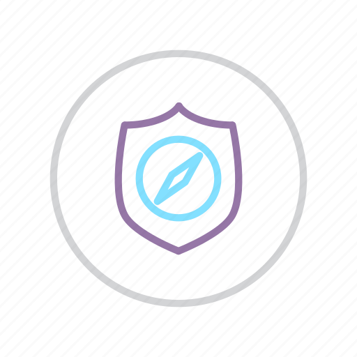 authentication, browsing, navigation, protection, secure, security, shield icon