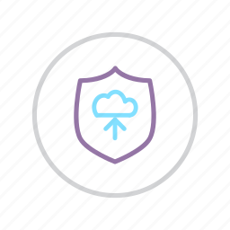 cloud, download, protection, secure, security, shield, transfer icon
