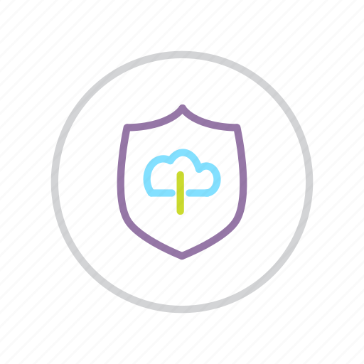 cloud, protection, secure, security, shield, storage, transfer icon