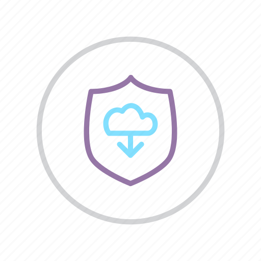 cloud, protection, secure, security, shield, transfer, upload icon