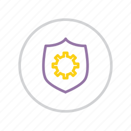 authentication, options, protection, secure, security, settings, shield icon