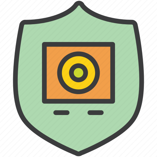 authentication, finance, protection, security, shield, storage, vault icon
