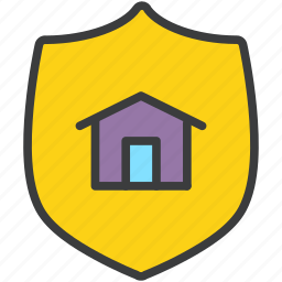 care, home, insurance, protection, secure, security, shield icon