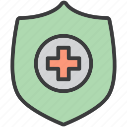 care, health, insurance, medicine, protection, security, shield icon