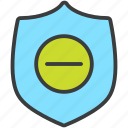 authentication, delete, password, protection, remove, security, shield icon